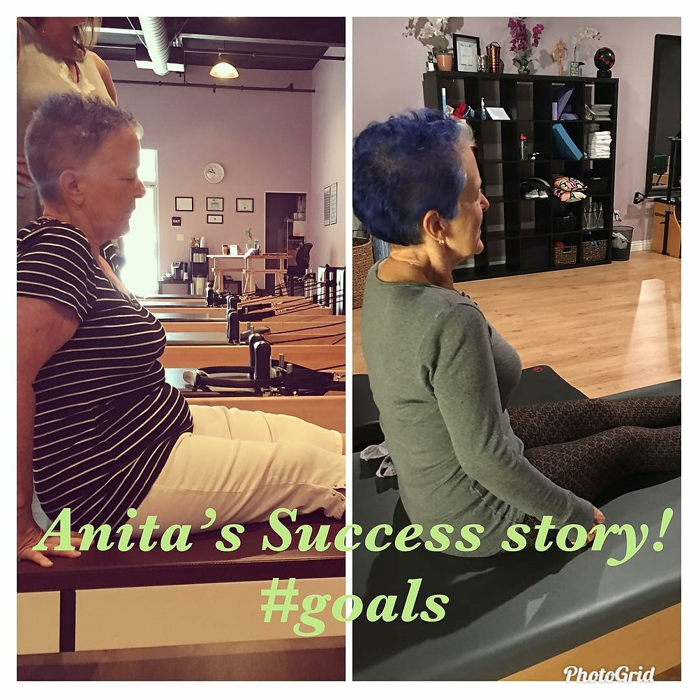 Anita, before and after. What a difference!