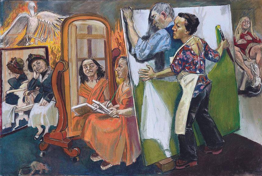 10_Paula_REGO_(b._1935),_Painting_Him_Ou