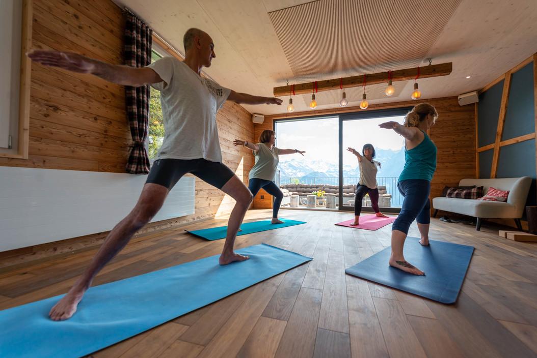 Yoga im Eventraum