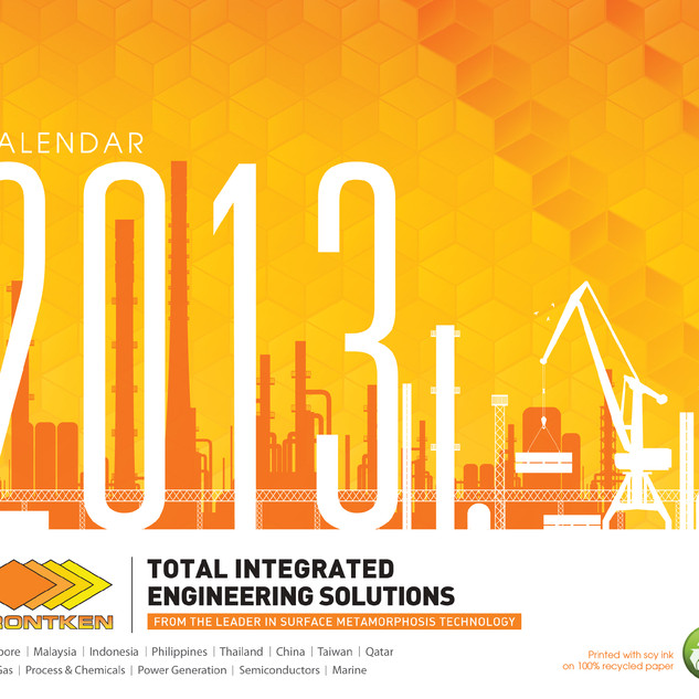 Frontken Calendar Cover Page Design