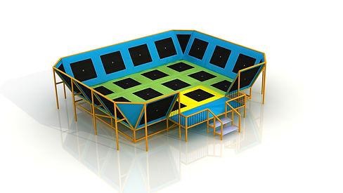 dodgeball trampoline outdoor