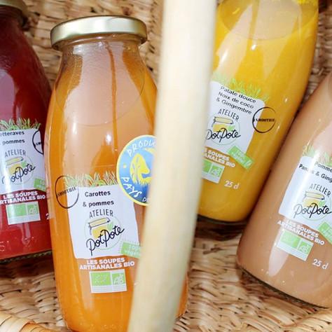 Bienvenue à Atelier Potpote, créateur de soupes et smoothies 100% végétal
