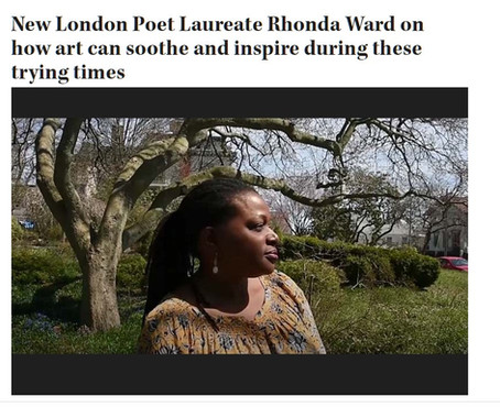 Witness Stones Poet Ronda Ward featured in The Day