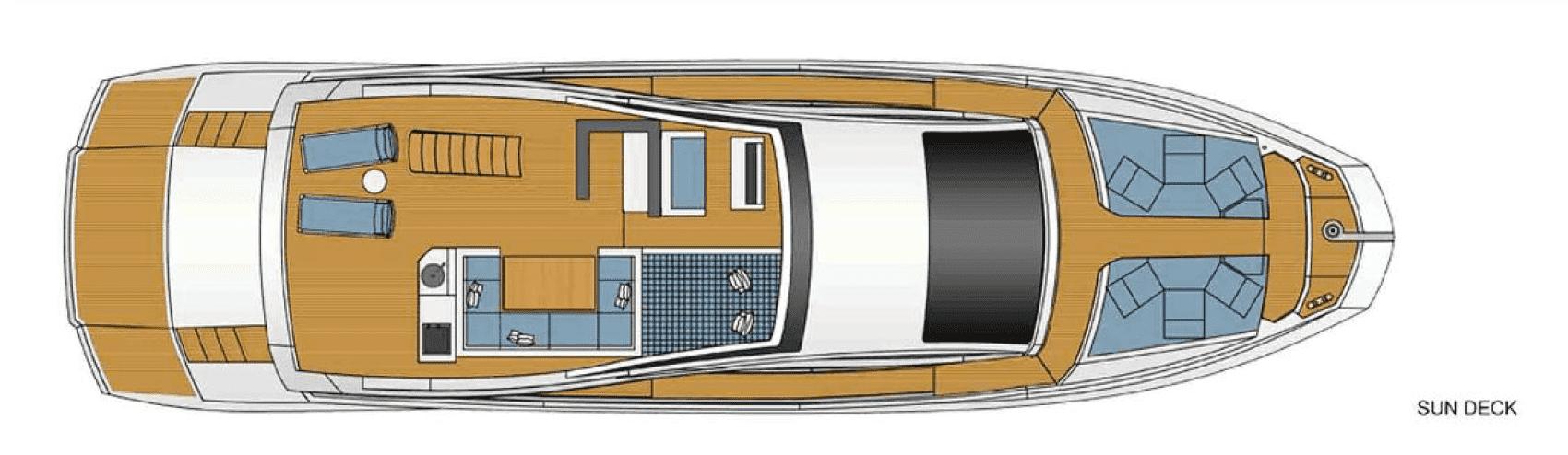 Plan of the Astondoa 72 / Plano de la cubierta 3 Astondoa 72