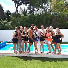 Hen party in the luxury villa in Marbella