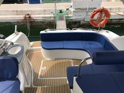 Stern deck Maremagnum yacht