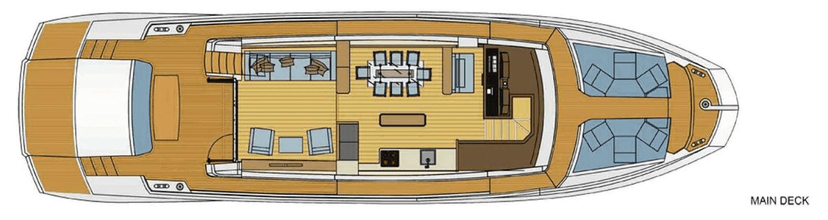 Plan of the deck 2 of Astondoa 72 / Plano de la cubierta 2 del Astondoa 72