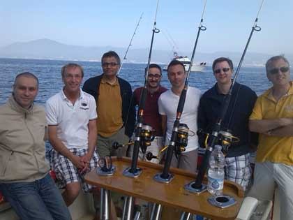 Fishing rods of Rodman 1250 /Cañeros del Rodman 1250