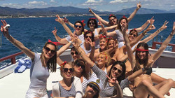Hen party on the sea