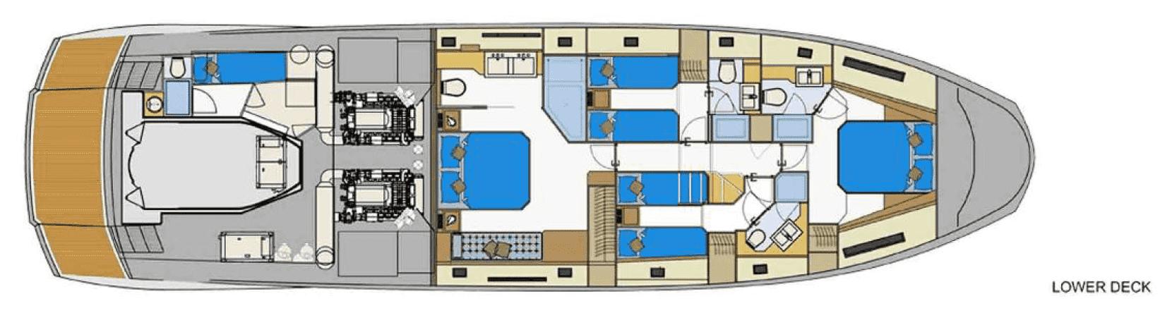Plan of the Astondoa 72 / Plano del Astondoa 72