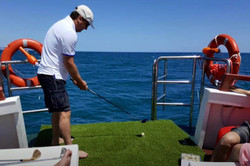 Golf on the sea on board