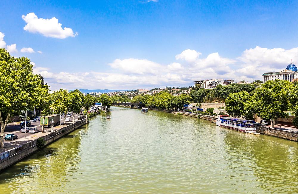 נהר קורה בטבליסי