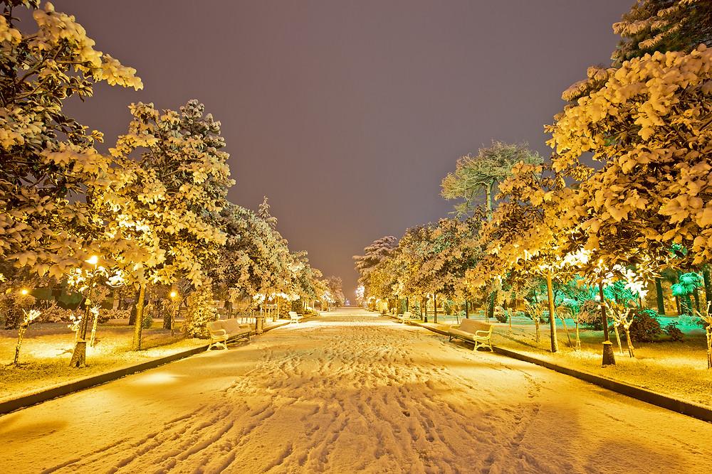 רחובות בטומי בחורף
