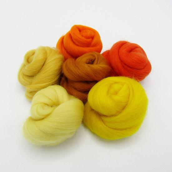 Yellow/Orange Wool Bundle
