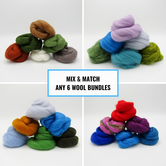 Mix and Match Any 6 Wool Bundles