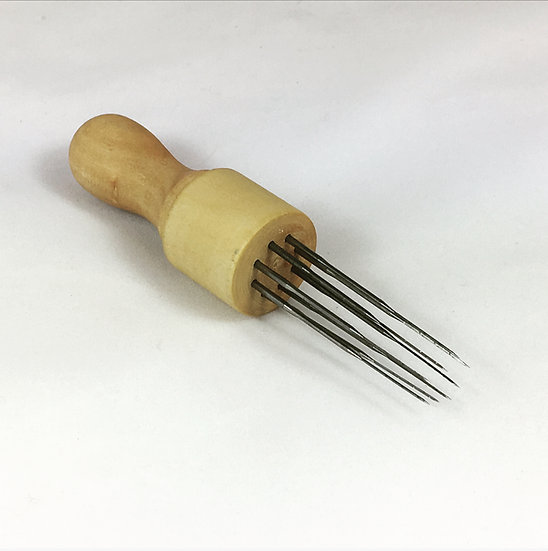 Wooden Needle Holder