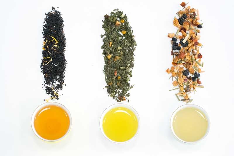 infusion et thé glacé