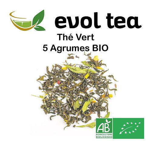 Thé Vert 5 Agrumes BIO 100g