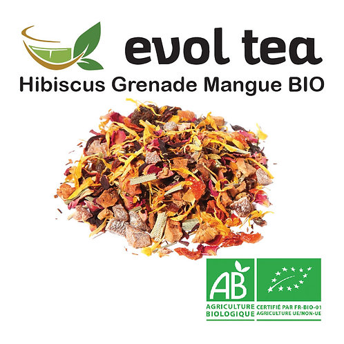 Hibiscus Grenade Mangue BIO 100g
