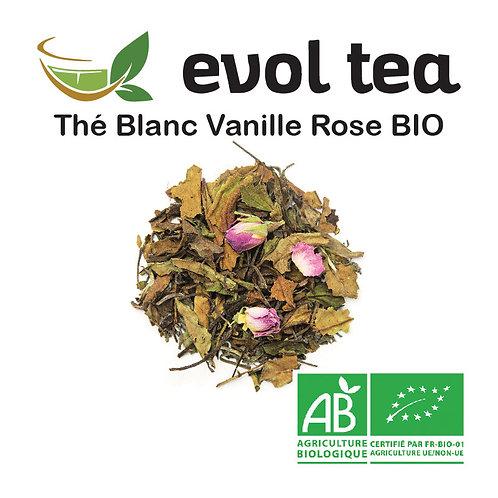 Thé Blanc Vanille Rose BIO 100g