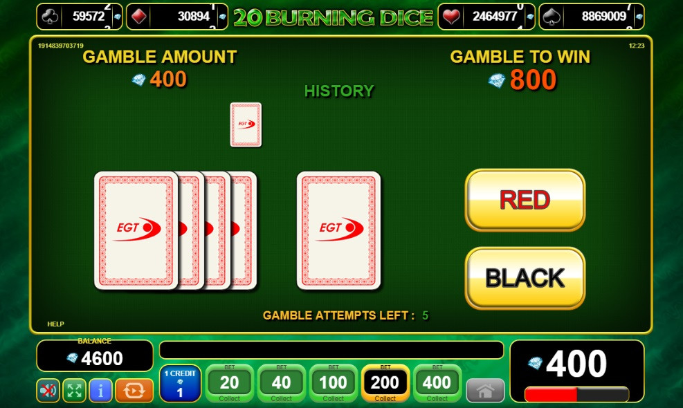 Blog LuckyGames.be - EGT 20 Burning Dice Slot Review