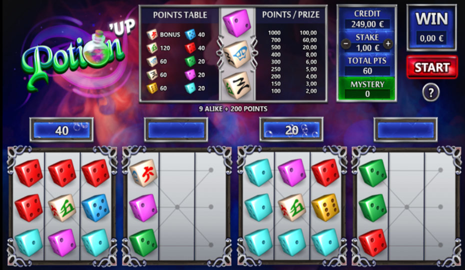 Blog LuckyGames.be - Gaming1 Potion Up Dice Game Review