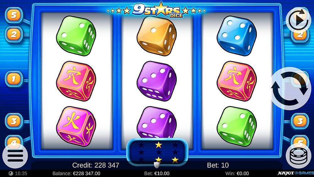 Blog LuckyGames.be - Kajot 9 Stars Dice Slot