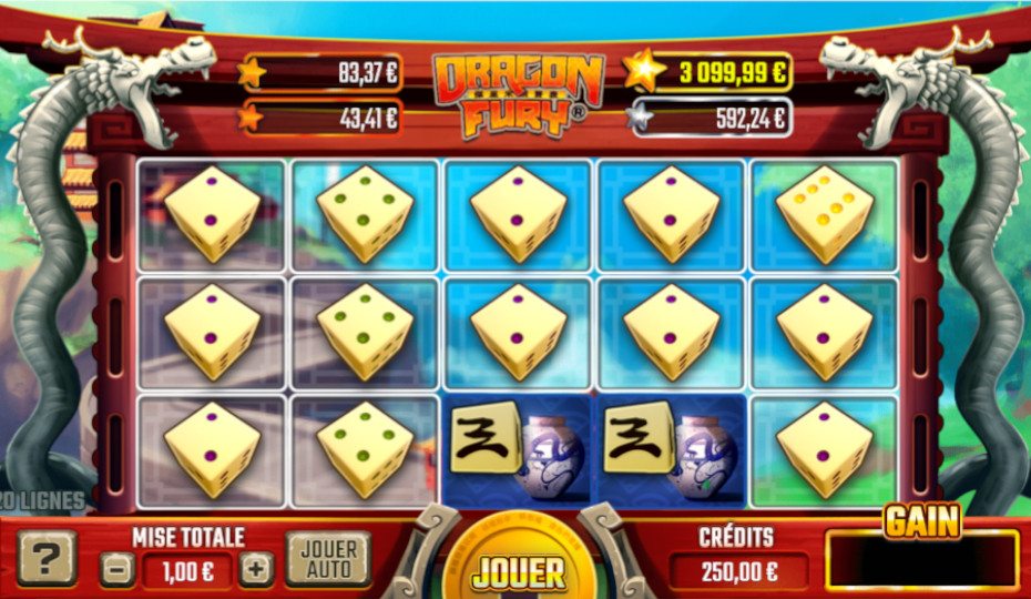 Blog LuckyGames.be - Gaming1 Dragon Fury Dice Slot Review