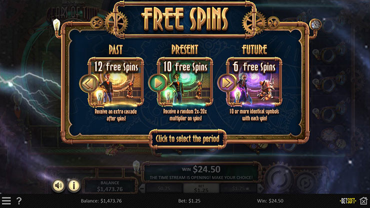 Betsoft Miles Bellhouse and The Gears of Time Dice Slot game Luckygames Casino
