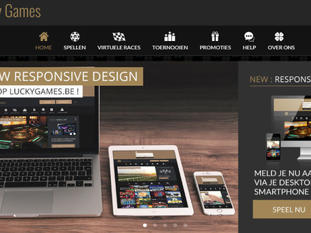 LuckyGames compleet responsive design