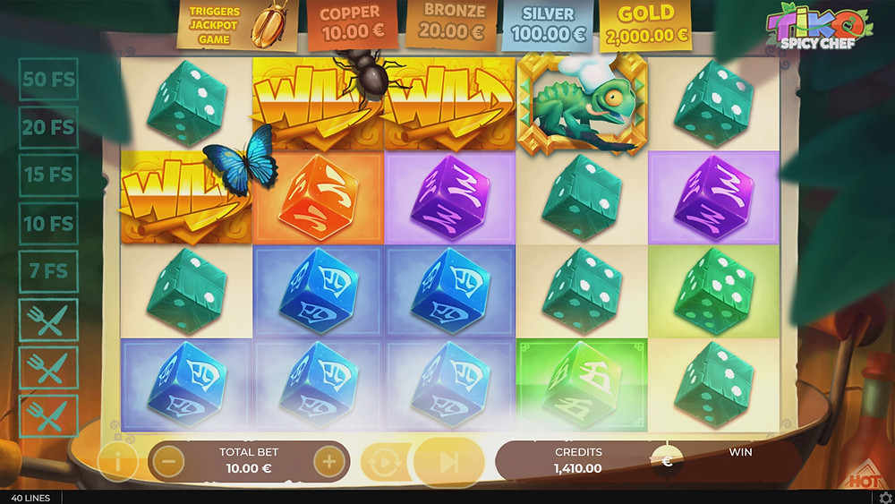 Blog LuckyGames.be - Gaming1 Tiko Spicy Chef Dice Slot