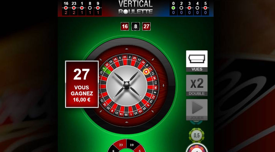 Blog LuckyGames.be - Gaming1 Vertical Roulette Game Review