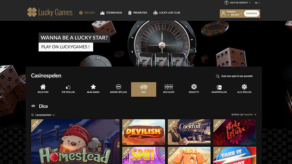 Blog LuckyGames.be - Luckygames.be nieuw design voor nog meer spelplezier!