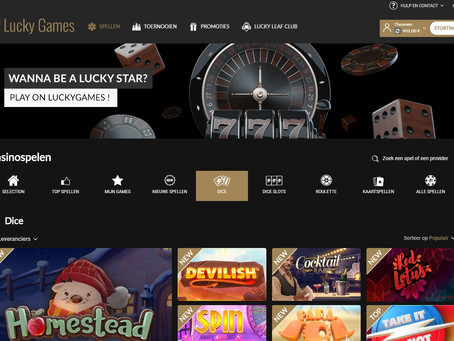 Luckygames.be nieuw design voor nog meer spelplezier!