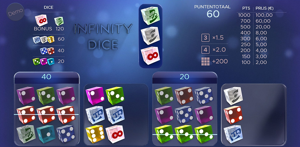 Blog LuckyGames.be - Airdice Infinity Dice Game Review
