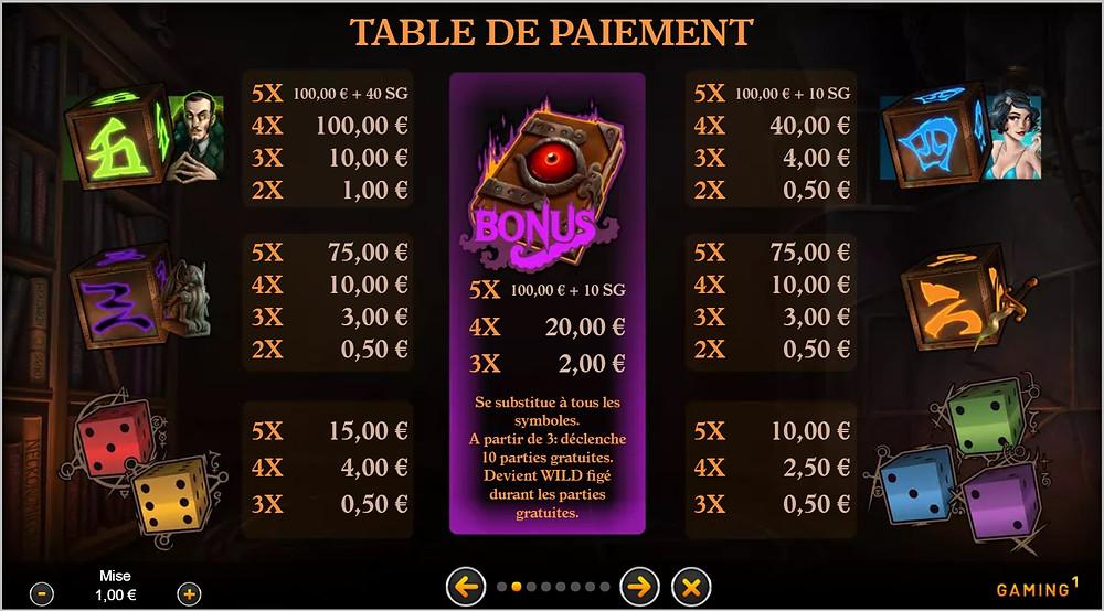 Blog LuckyGames.be - Gaming1 Cometstar Dice Slot