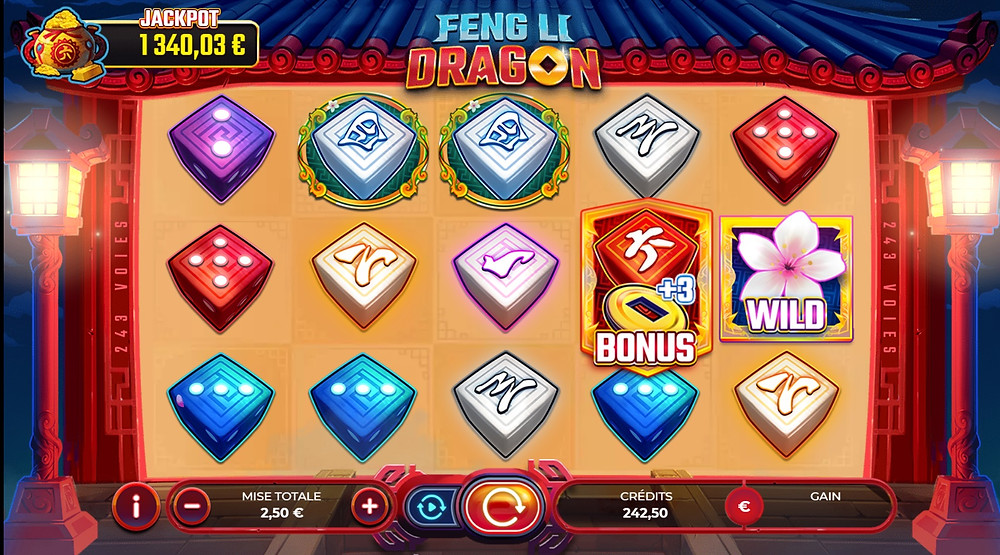 Blog LuckyGames.be - Gaming1 Feng Li Dragon Dice Slot