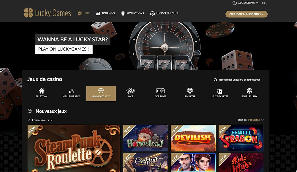 Blog LuckyGames.be - Luckygames Casino fait peau neuve !