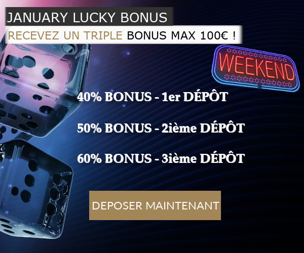 Blog LuckyGames.be - Weekend bonus Luckygames.be 40%-50%-60%