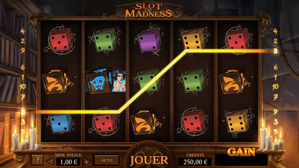 Blog LuckyGames.be - Gaming1 Slot of Madness Game Review