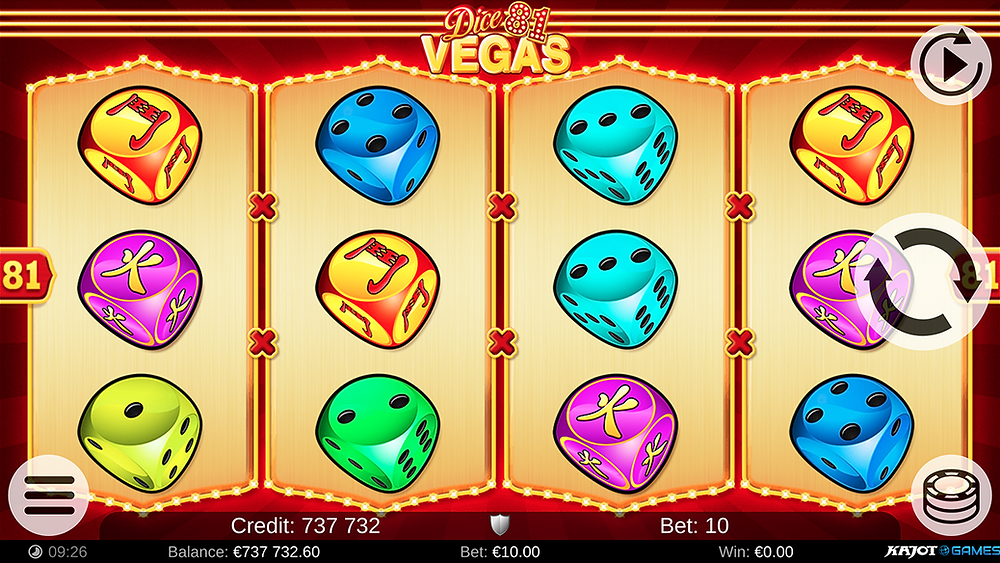 Blog LuckyGames.be - Kajot Dice Vegas 81