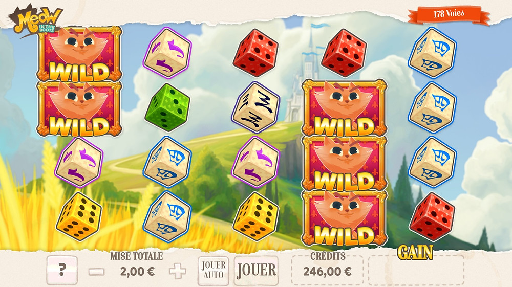 Blog LuckyGames.be - Gaming1 Meow in the Boots Dice Slot