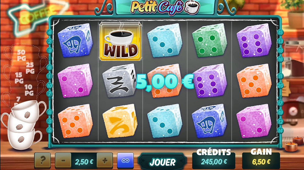Blog LuckyGames.be - Gaming1 Petit Café Slot Game Review