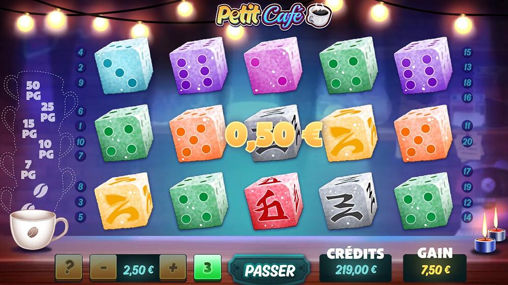 Blog LuckyGames.be - Gaming1 Petit Café Dice Slot