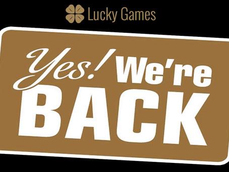 Luckygames opnieuw online!