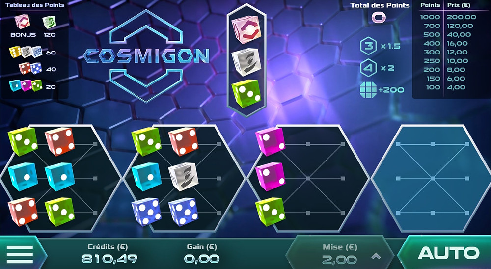 Luckygamesblog - Airdice Cosmigon Dice Game Review