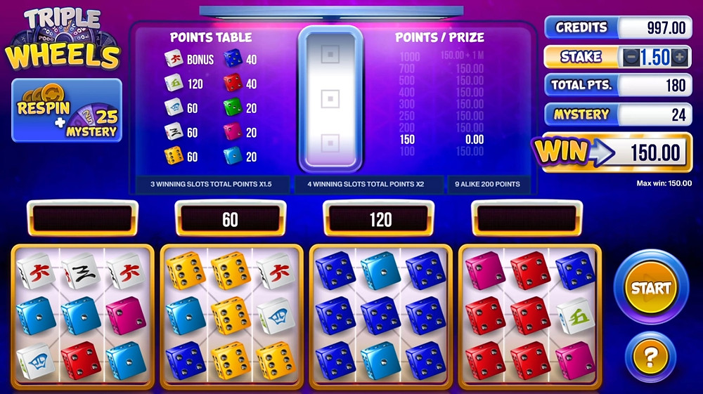 Gaming1 Mystery Wheels Dice Game - Casino Luckygames review