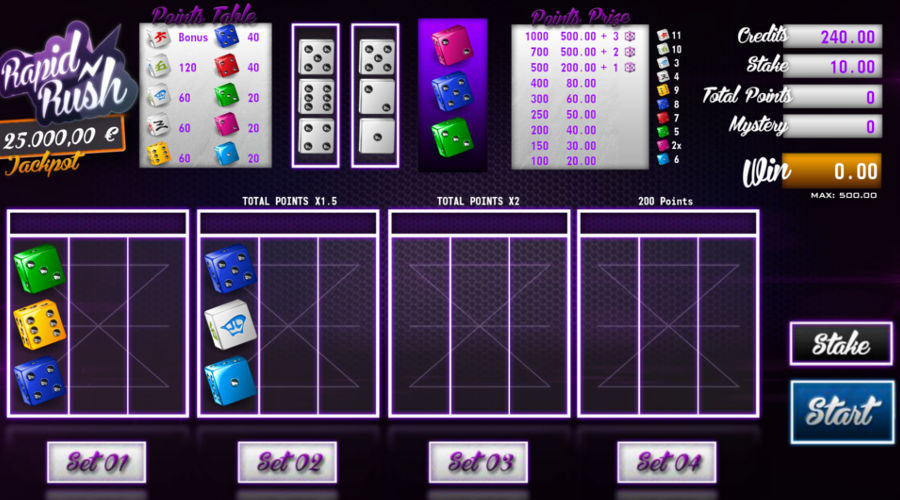Blog LuckyGames.be - Gaming1 Rapid Rush Dice Game Review