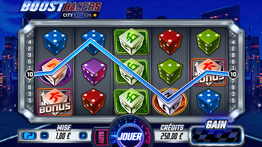 Blog LuckyGames.be - Gaming1 Boost Racers Dice Slot Review