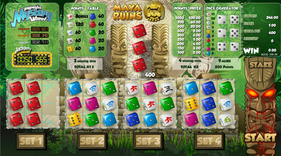 Blog LuckyGames.be - Gaming1 Maya Ruins Dice Game Review